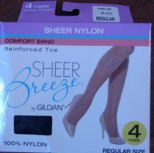 Gildan sheer breeze knee highs